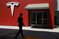 A Tesla Inc. Supercharging Station