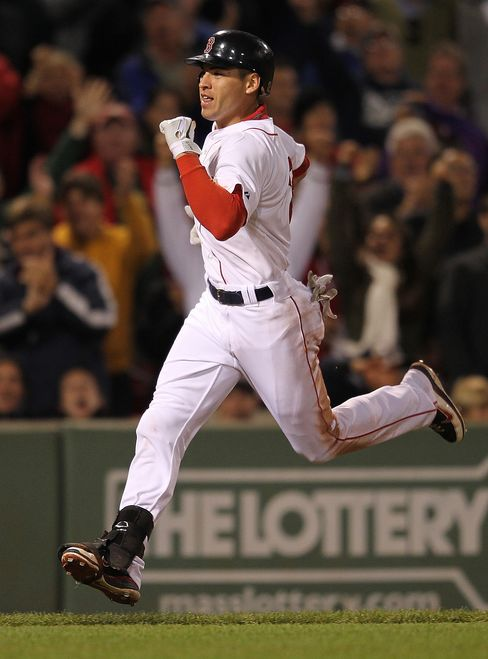 Jacoby Ellsbury of the Boston Red Sox