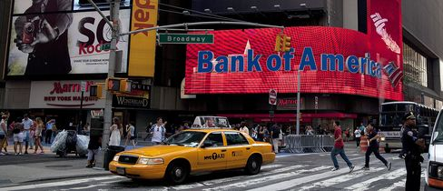 Bank of America Leads Jump in Default Swaps on U.S. Lenders