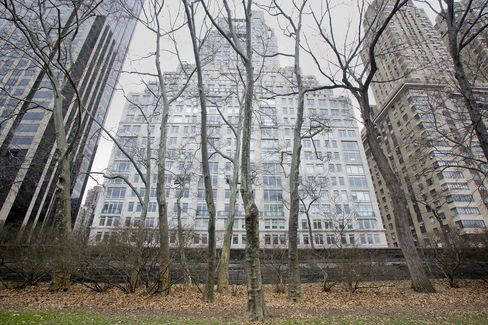 The 15 Central Park West Condominium Building Stands in New York