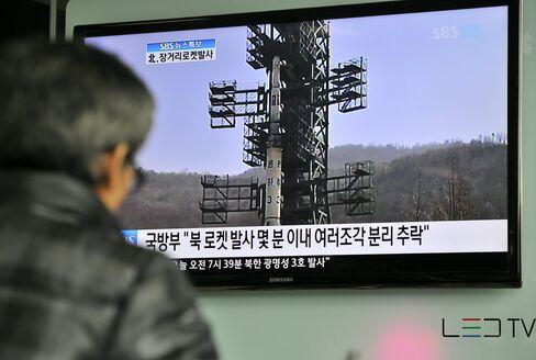 South Korean Won Advances as North Korea Rocket May Have Failed