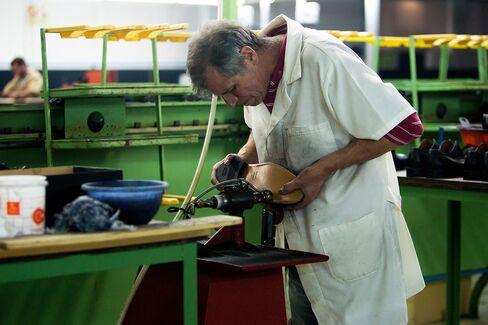 A shoe factory in Felgueiras, Portugal, on Dec. 18, 2013.