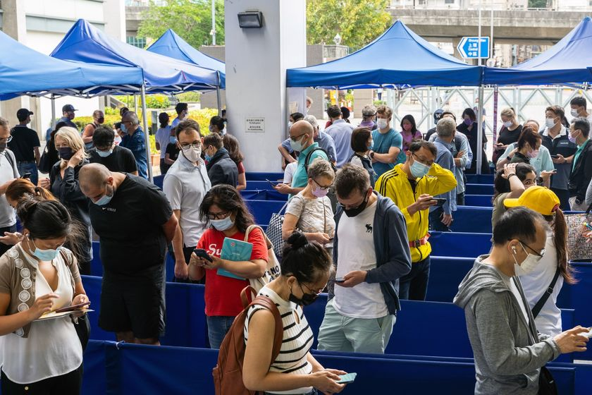 BioNTech Community Vaccination Center As Hong Kong Vaccine Bookings Double