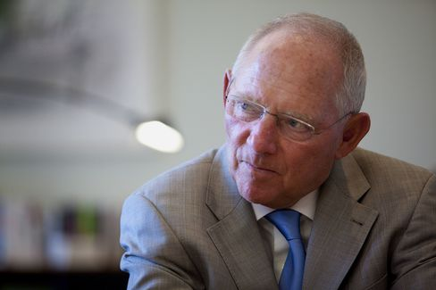 Germany's Finance Minister Wolfgang Schaeuble