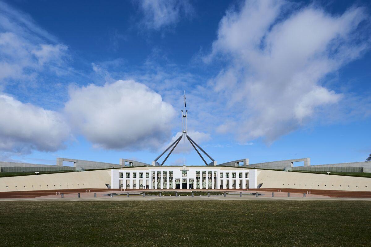 Parliament House in Canberra, Australia.