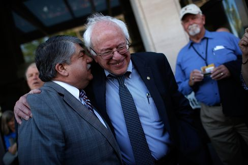 Bernie Sanders Leads March Against Fast Track Trade