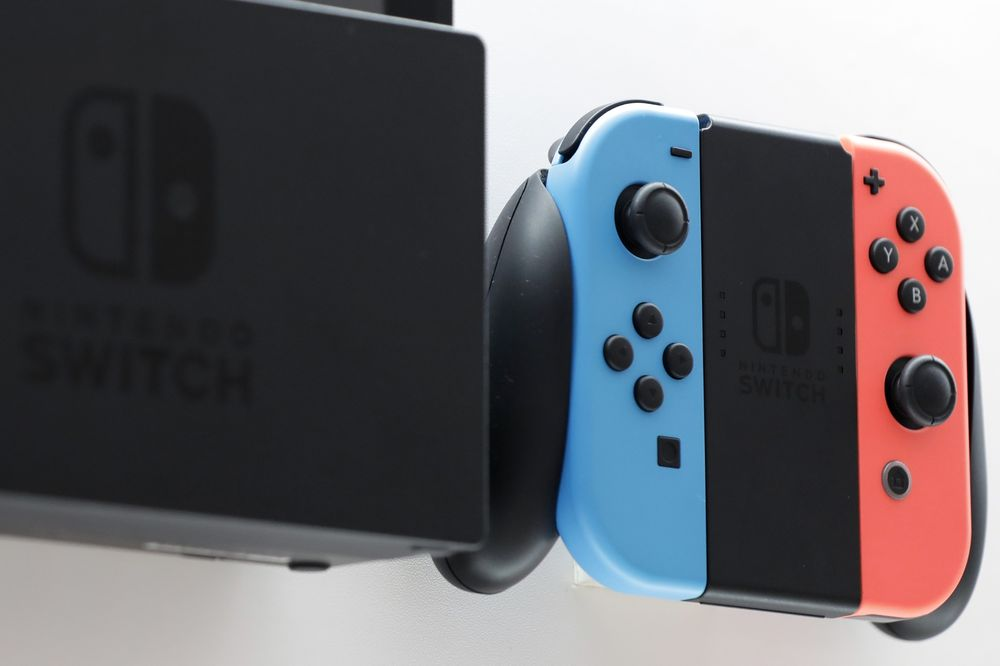 La consola de juegos Nintendo Switch.