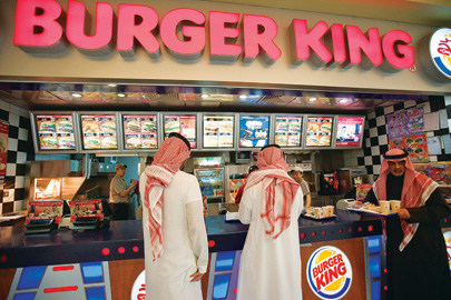 Food courts in Kuwait are packed with American franchises