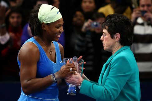 Billie Jean King and Serena Williams