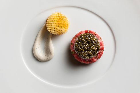 Le Bernardin, Eric Ripert's seafood restaurant in the Theater District (which also happens to serve a mean steak tartare), maintains three Michelin stars.