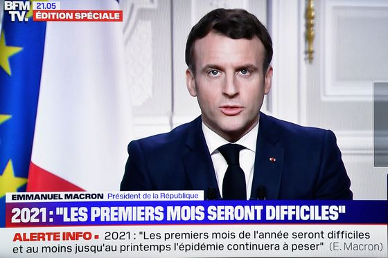 Macron Sees Tough Months Ahead Before Spring Recovery