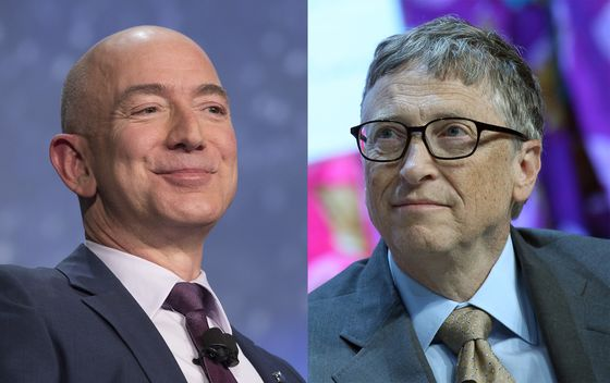 Gates Joins Bezos as theOnly Two Members of the $100 Billion Club