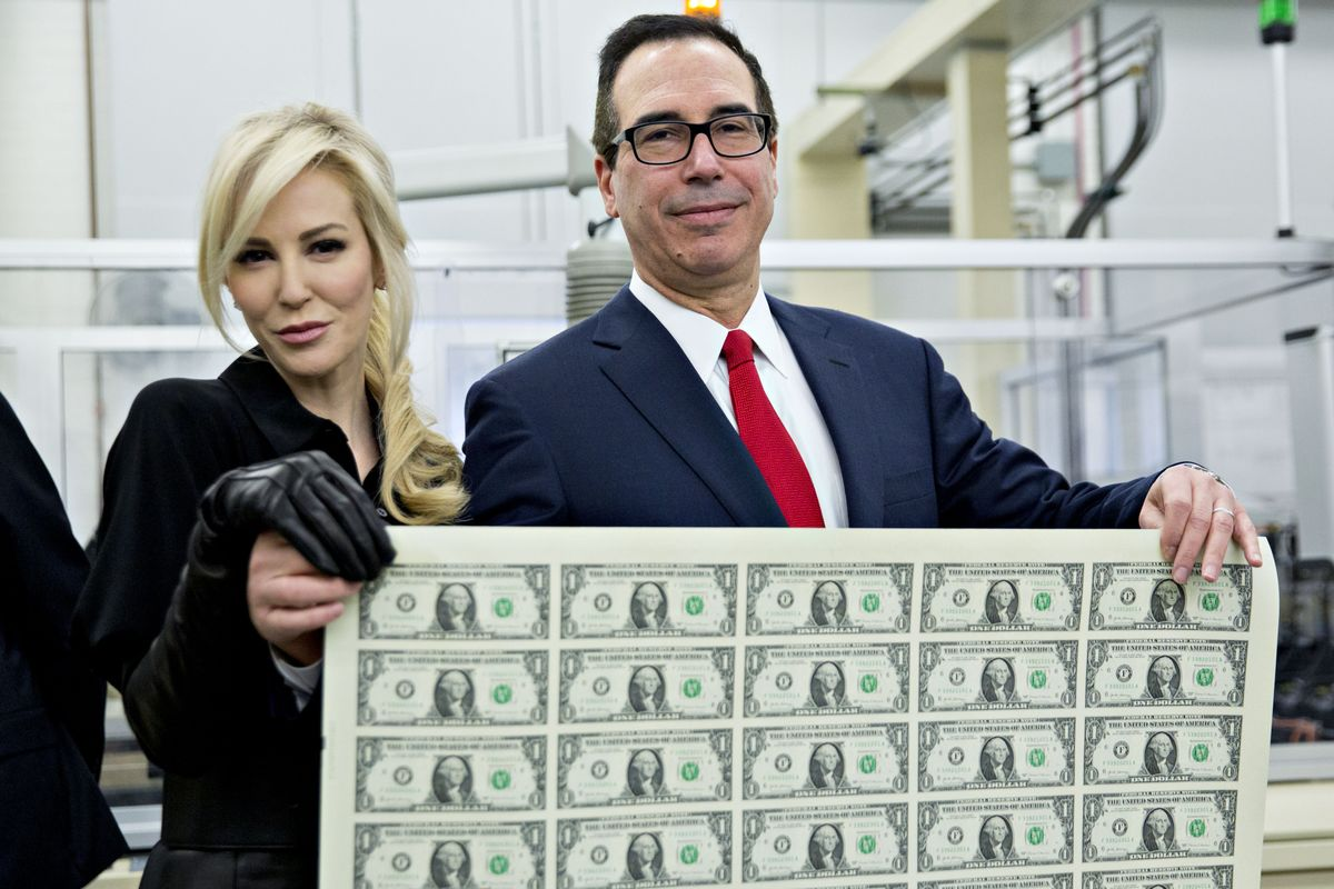Steven Mnuchin Gets His Name on the Dollar