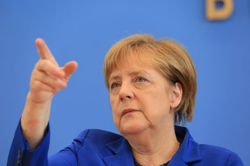 Germany's Chancellor Angela Merkel Holds Federal Press Conference