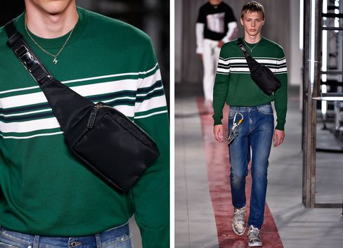 A fanny pack from MSGM.