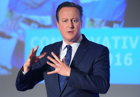 David Cameron addresses the Conservative party Spring Forum on April 9.
