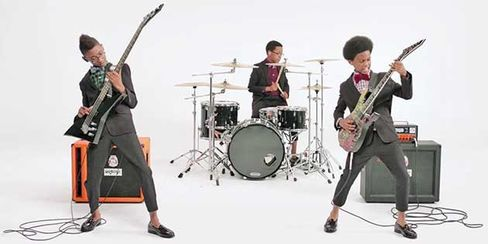 The band performs Heavy Metal Jingle Bells in a Cole Haan ad last December