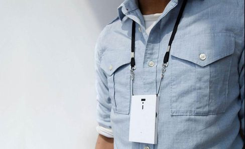 Humanyze makes smart work badges that track how you are speaking and who you are interacting with