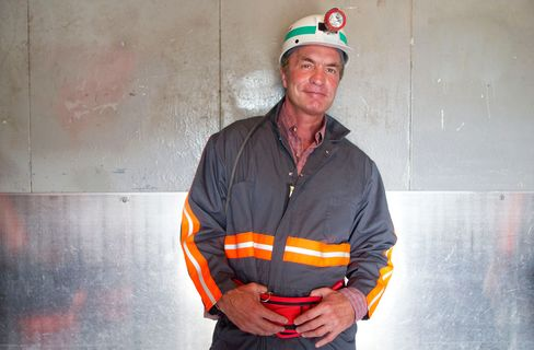 Chris Cline, owner of Foresight Energy LLC, poses for a portrait inside an elevator to the mine at Foresight Energy LLC's Shay coal mine in Carlinville, Illinois, on June 21, 2010.