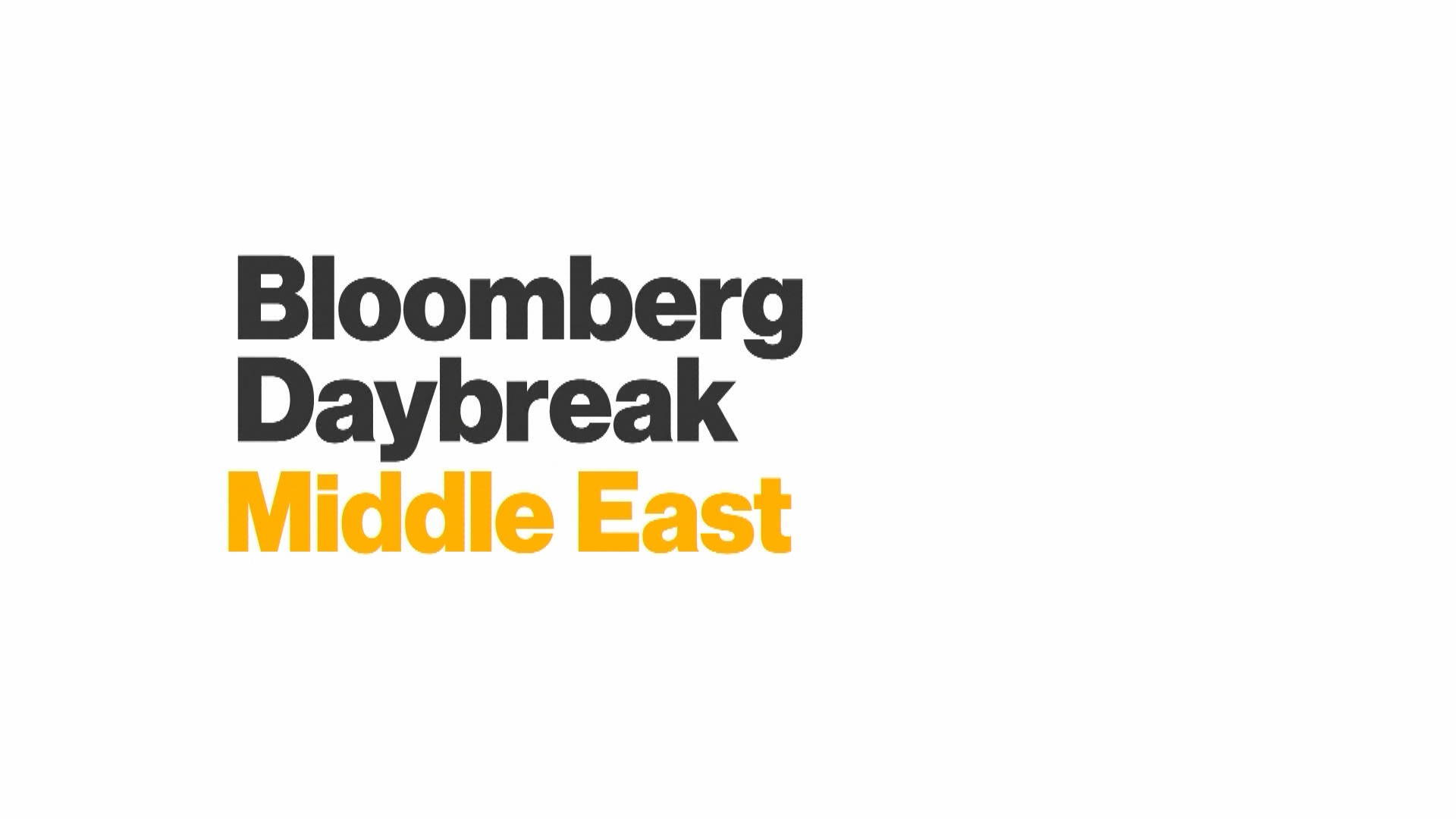 Bloomberg Daybreak: Middle East Full Show (03/21/2019