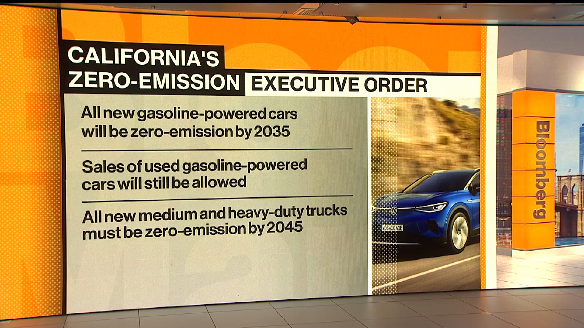 California Is Banning Gasoline Cars Now The Ev Race Begins Bloomberg