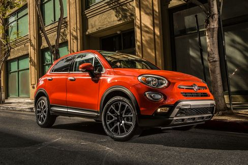 "The 2016 Fiat 500X has four doors and a rear hatch. The version shown here is the ""Trekking Plus"" model."