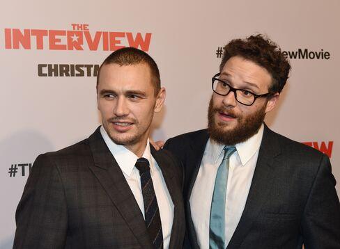 Actors James Franco and Seth Rogen at