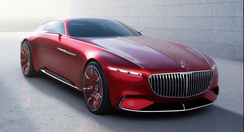 The Vision Mercedes-Maybach 6 concept car.