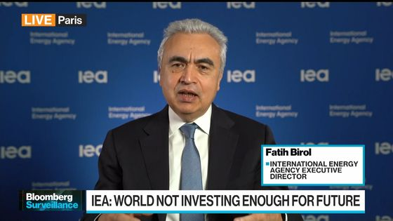 IEA Says World Isn't Investing Enough in Future Energy Needs