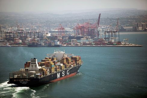 Shipping Operations At The Port Of Durban