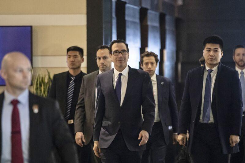 U.S. Trade Representative Robert Lighthizer and Treasury Secretary Steven Mnuchin Begin Trade Talks with China