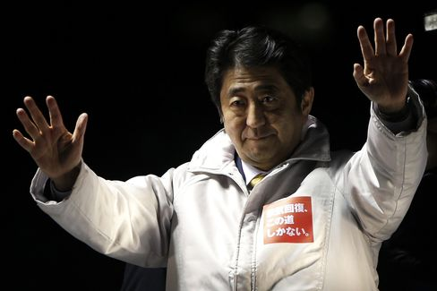 Abe's Ruling Coalition Wins Majority in Japan Election, NHK Says