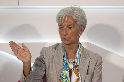 IMF's Lagarde Praises Greece, Spain for Efforts Fighting Crisis