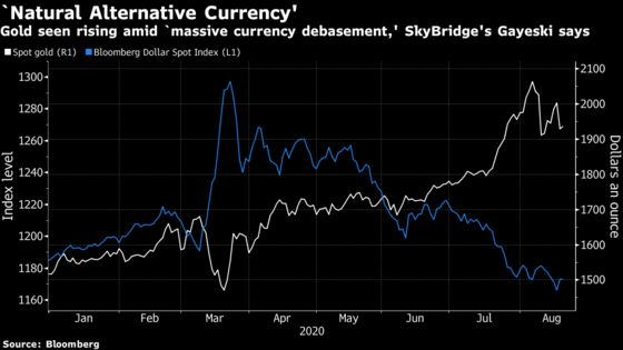 Gold to Gain on Massive Currency Debasement, SkyBridge Says