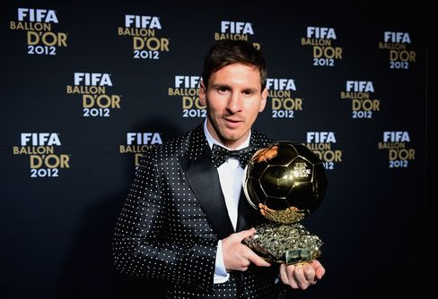 Messi Wins Record Fourth Straight Award as Soccer's Best Player