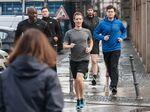 Zuckerberg jogs runs Berlin