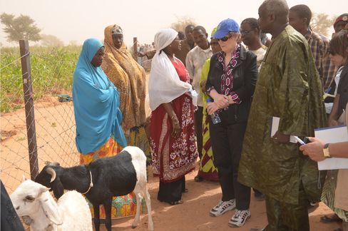 Helen Clark, head of the United Nations Development Program