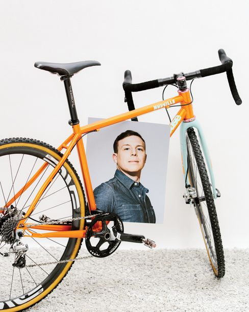 Geekhouse's Mudwille racing bike looks great in Illusion orange; the souped-up version goes for $7,500.
