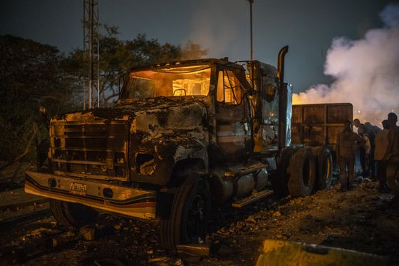 Venezuela Aid Fire Was Probably Caused by Protester, Times Says