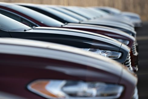 A Row of Cars Sit for Sale in Illinois
