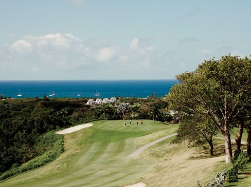 The golf course at the Four Seasons resort at Pinney's Beach on Nevis. Buy a villa here—minimum $400,000—and become a citizen.