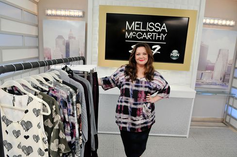 Melissa McCarthy debuts her first fashion collection, Melissa McCarthy Seven7, on Aug. 13 at HSN Studios in St. Petersburg, Fla.