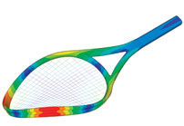 Sports: Testing how a racket bends when hitting a ball helps prevent shattering