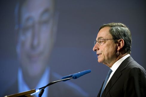 Governor of the Bank of Italy Mario Draghi