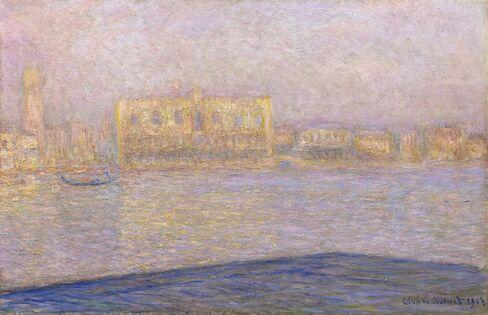 Le Palais Ducal Vu de Saint Georges Majeur by Monet