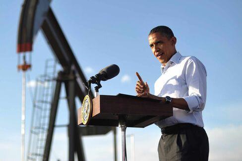 US President Barack Obama speaks at an o