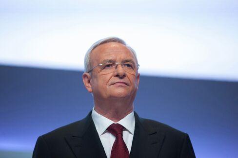 Volkswagen AG Chief Executive Martin Winterkorn