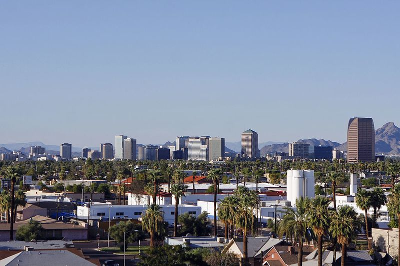 Buildings dot the skyline of Phoenix, Arizona, U.S., on Tues