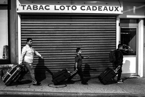 Iraqi refugees after arriving by train to Bellegarde-sur-Valserine, western France, on Sept. 5, 2015.