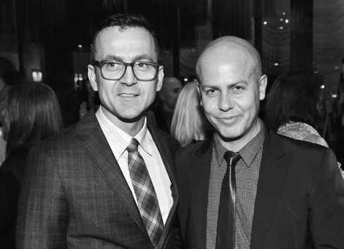 CFDA Executive Director Stephen Kolb (left) and Italo Zucchelli, men's creative director of the Calvin Klein Collection.